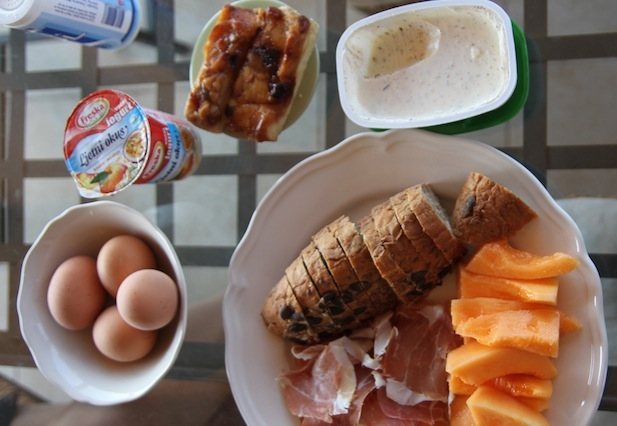 Continental breakfast in Istria, Croatia